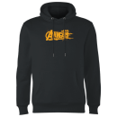 Marvel Avengers Infinity War Orange Logo Hoodie - Black
