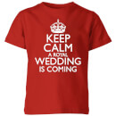 T-Shirt Enfant My Little Rascal Keep Calm Wedding Coming - Rouge