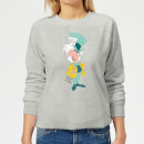 Disney Alice In Wonderland Mad Hatter Classic Women's Sweatshirt - Grey