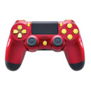 Playstation 4 Controller - Crimson Red & Gold