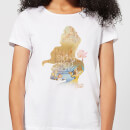 Disney Princess Filled Silhouette Belle Women's T-Shirt - White