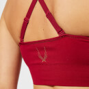 Lucas Hugh Women's Orbit Technical Knitted Adjustable Sports Bra - Garnet