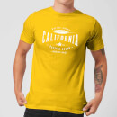T-Shirt Homme California Native Shore - Jaune