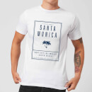 T-Shirt Homme Santa Monica Surf City Native Shore - Blanc