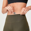 Power Mesh Leggings - Dark Khaki - XS
