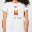 T-Shirt Femme Fries Before Guys - Blanc