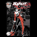 DC Comics Batman Harley Quinn Comic Page T-Shirt - Black