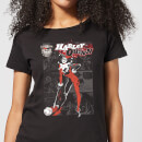 DC Comics Batman Harley Quinn Comic Page Women's T-Shirt - Black