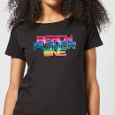 T-Shirt Femme Ready Player One Rainbow Logo - Noir