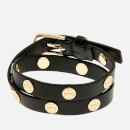 Tory Burch Women's Double Wrap Logo Stud Bracelet - Black/Gold