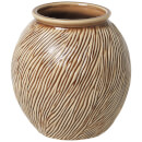 Broste Copenhagen Sandy Ceramic Vase - Indian Tan