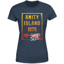 Jaws Amity Population Women's T-Shirt - Navy