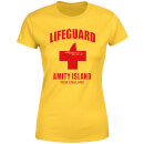 Jaws Amity Island Lifeguard Women's T-Shirt - Yellow