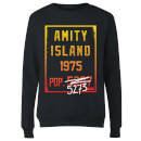 Sweat Femme Les Dents de la mer - Population d'Amity - Noir