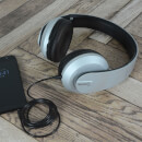 AV: Link Satin Finish Bluetooth 4.2 Headphones with Hard-Shell Case - Silver