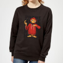 ET Phone Home Stylised Women's Sweatshirt - Black