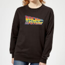Back To The Future Classic Logo Women's Sweatshirt - Black