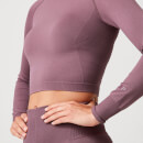 Shape Seamless Crop Top - Mauve - M - Mauve