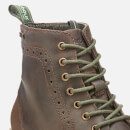 Barbour Men's Belsay Leather Brogue Lace Up Boots - Choco