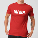 T-Shirt Homme NASA Worm Logotype - Rouge