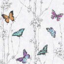 Fresco White/Multi Flutter Forest Floral Wallpaper