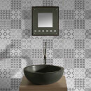 Contour Grey/White Porches Bathroom/Kitchen Wallpaper