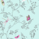 Superfresco Easy Duck Egg Nature Trail Floral Wallpaper