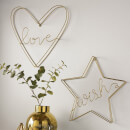 Art for the Home Gold Wish Wire Wall Art