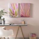 Art for the Home Blushed Tropical Leaves Printed Canvas (Set of 2)