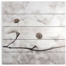 Art for the Home Serenity Blossoms Print on Wood