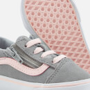 Vans Toddlers' Old Skool Zip Suede Trainers - Alloy/Heavenly Pink/True White