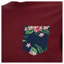 T-Shirt Homme Tiki Poche Threadbare - Bordeaux