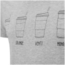 Threadbare Men's Coffee T-Shirt - Grey Marl