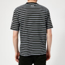 McQ Alexander McQueen Men's Dropped Shoulder Monster T-Shirt - Striped Porcelain Blu