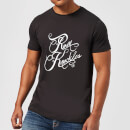 T-Shirt Homme Rum Knuckles Typography - Noir