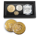 Harry Potter Gringotts Bank Coin Collection Includes the Galleon, Sickle and the Knut