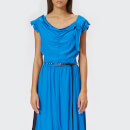 Marc Jacobs Women's Satin Back Crepe Dress with Lace Hem - Bright Blue