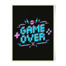 Game Over Gaming Art Print