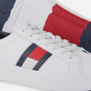 Tommy Hilfiger Men's Flag Detail Leather Trainers - White