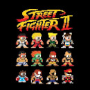 Street Fighter 2 Pixel Characters Men's T-Shirt - Black