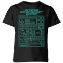 Nintendo NES Controller Blueprint Kid's T-Shirt - Black