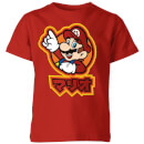 Nintendo Super Mario Mario Kanji Kid's T-Shirt - Red