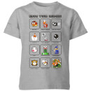 Nintendo Know Your Enemies Kinder T-shirt - Grijs