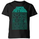 T-Shirt Enfant Schéma Super Power Suit - Metroid Nintendo - Noir