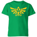 Nintendo The Legend Of Zelda Hyrule Kid's T-Shirt - Kelly Green
