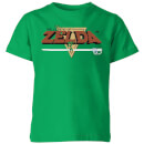 Nintendo The Legend Of Zelda Retro Logo Kid's T-Shirt - Kelly Green