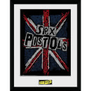 Sex Pistols Flag 12 x 16 Inches Framed Photograph