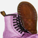 Dr. Martens Kids' 1460 T Glitter Lace Up Boots - Dark Pink