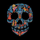 Coco Skull Pattern Men's T-Shirt - Black