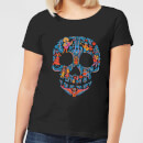 Coco Skull Pattern Women's T-Shirt - Black